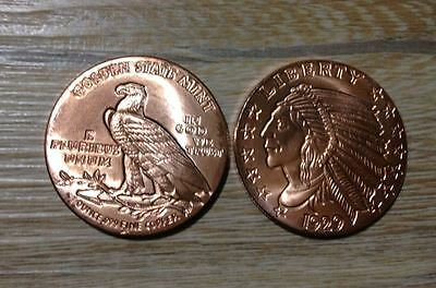 1oz Ounce Unze Kupfer Copper 999 Liberty USA Indian Head Design 1929 28,4 gramm