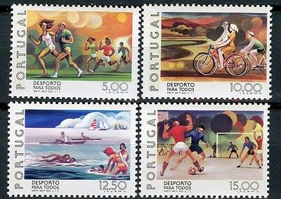 Portugal Scott 1394-1397 sports for all MNH