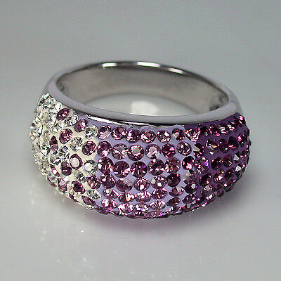 35.70 Ct SIze 7 - SWAROVSKI CRYSTAL with 925 Silver Ring From America