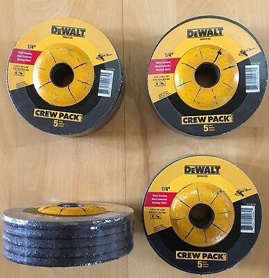 "20-Pieces DEWALT 4-1/2"" X 1/4"" X 7/8"" Metal Welding Grinding Wheels - DW4541-New"