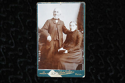 Vintage Cabinet Card Victorian Man Woman Hull England UK Antique Photograph