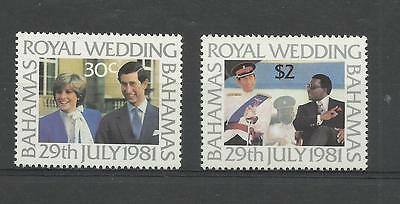 BAHAMAS 1981 Royal Wedding   unmounted mint / mnh set