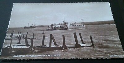 Postcard real photo sandbanks to studland ferry poole unposted