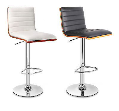 Casino Faux Leather Chrome Bar Stool Breakfast Kitchen Swivel Bar Stools 2Colors