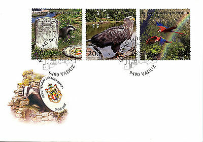 Liechtenstein 2016 FDC Without Us Badgers Eagles Parrots 3v Cover Birds Stamps