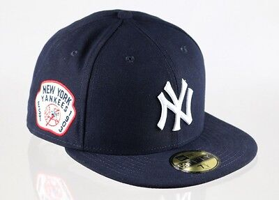 New York Yankees 59FIFTY Team Patch Mens MLB Baseball Cap By New Era Size 7 5/8