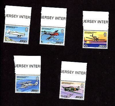 Jersey - 1979 Air Rally mint postage stamp set