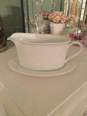 Marks & Spencer's White Gravy Boat & Stand, Still In Shops Now, Good Condition