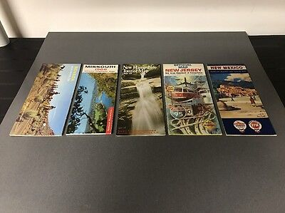 Lot of (5) Vintage Gas Station Road Maps Advertising Car Stuff Lot #2