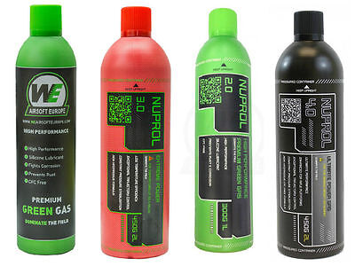 NEW WE Green/Black Gas Airsoft Gas 450g /300g high performance FREE POST IN UK