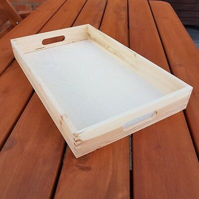 Wooden Serving Tray 50 cm x 36 cm x 6 cm For Decoupage