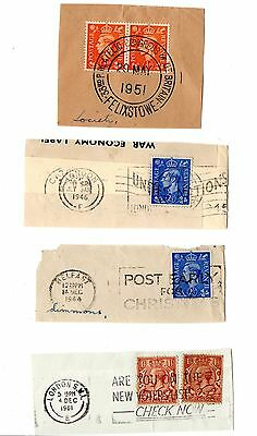 GB - Postal slogans with pre QE2 stamps