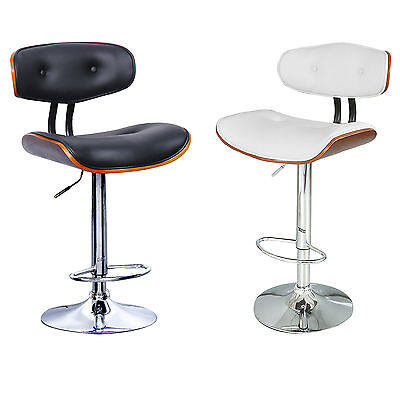 Casino Faux Leather Chrome Bar Stool Breakfast Kitchen Swivel Bar Stools