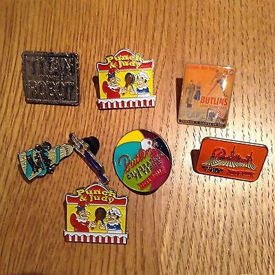 Small Group Of Modern Butlins Holiday Camp Badges Pin