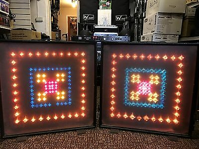 Light Screens x 2 with NJD Euro 4 Controller Retro disco lighting