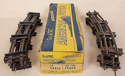 "American Flyer Postwar #702 Box Of 12 Sections Curved ""s"" Gauge Track-Nice!"