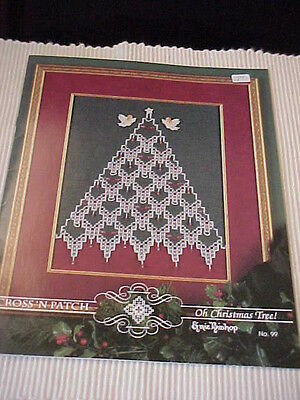 Hardanger Booklet Oh Christmas Tree Emie Bishop Cross 'N Patch 5 Designs