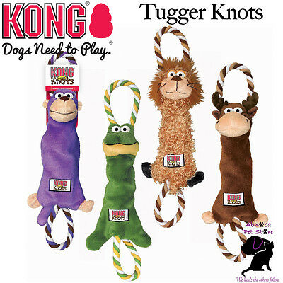 Kong Tugger Knots interactive tug & shake toys dogs love knotted ropes inside