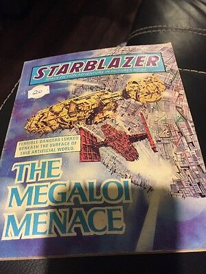 The Megaloi Menace,starblazer Space Fiction Adventure In Pictures,no.94,comic