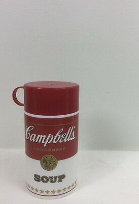1998 Campbell's Condensed Soup Red / White 11 1/2oz Travel Thermos Fast Shi