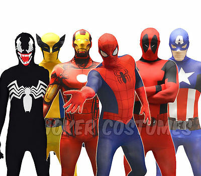 Morphsuit Marvel Superhero Costume Spiderman Captain America Iron Man CHEAP