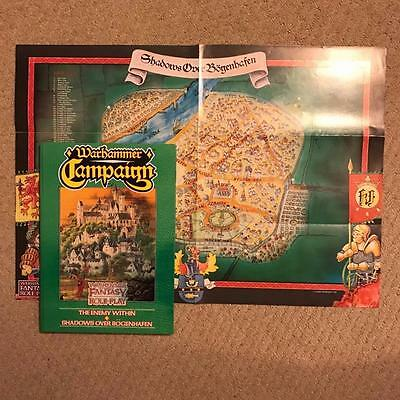 Warhammer The Enemy Within OOP Shadows Over Bogenhafen Complete Mint w Map