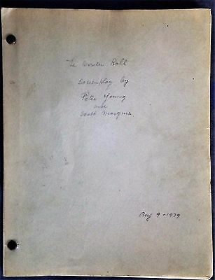 """The Border Roll Screenplay """"John Wesley Hardin"""" by Peter Young & S. Marquis 1979"""