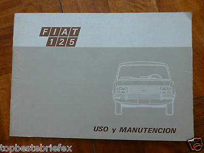 FIAT 125 OLD MANUAL IN SPANISH 1970'S RARE of ARGENTINA !!