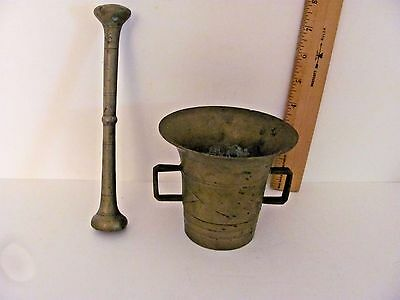 Vintage Brass Mortar and Pestle Apothecary Medical Pharmacy Very Heavy