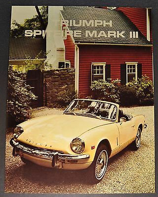 1969 Triumph Spitfire Mark III Sales Brochure Sheet Excellent Original 69