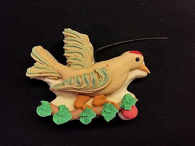 Vintage 1950s Eugene Froshe German Sugar Ornament - Bird Dove
