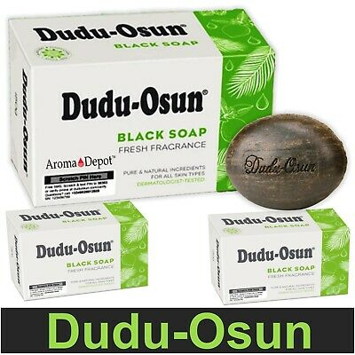 Dudu Osun Raw African Black Soap Organic Natural AntiAcne Fungus EnzemaPsoriasis