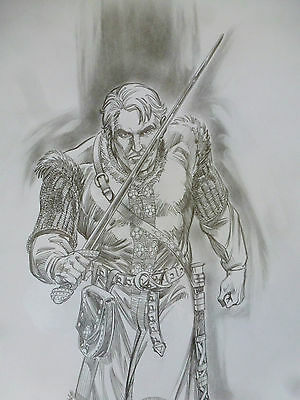 Mike Grell Original Published Art Detailed pencils Illarion The Mongoliad