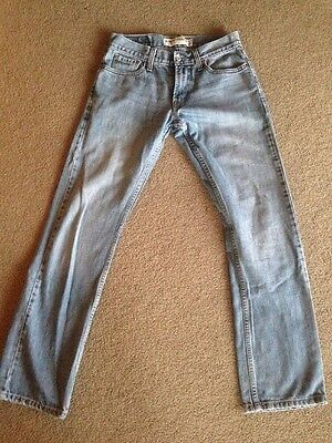 Levi's 514 Slim Straight Young Men's Denim Jeans 29x32 Distressed Worn 29