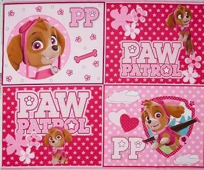 Paw Patrol Quilt Panel * New * In Stock * Free Post * Pink *