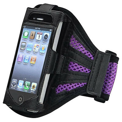 5X (Deluxe Armband for iPod touch 2G/3G (Black/Purple) F6 F6