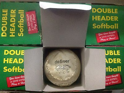 USED 6 balls deBeer Official Double Header Clincher 12 inch Softballs