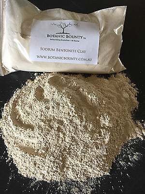 Sodium Bentonite Clay - Horticultural, Edible, Internal Detox, Cleansing, Mask