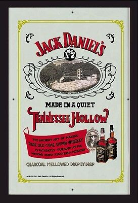 Jack Daniels Tennessee Hollow Nostalgia Bar Mirror 8 11/16x12 5/8in