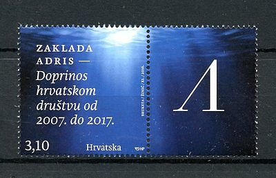 Croatia 2016 MNH Zaklada Adris Foundation 1v Set + Label Science Cultures Stamps