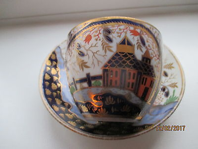Rare  English  Imari House Pattern Cup  And Saucer  Perfect C 1820