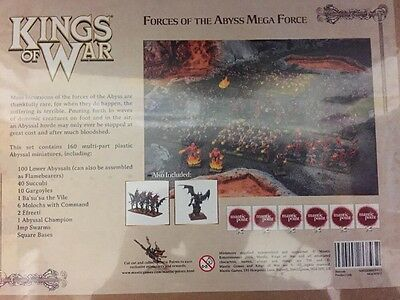 Free Uk Shipping! Kings Of War Forces Of The Abyss Mega force Brand New!