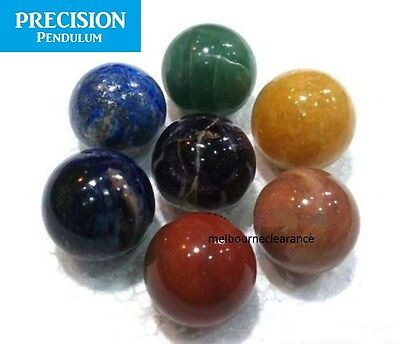 7 x Chakra Ball Therapy Set Healing Crystal Sphere Orb Natural Gemstone Rainbow