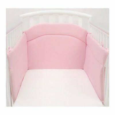 Paracolpi 3 Lati Lettino 100% Cotone Antibatterico Made In Italy Rosa Baby Idea