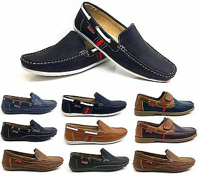 Mens New Slip On Casual Boat Deck Mocassin Desinger Loafers Driving Shoes Size