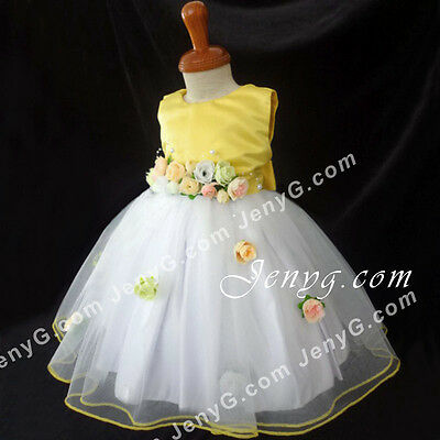 CFY7 Baby Girl Christening Baptism First Holy Communion Church Formal Gown Dress
