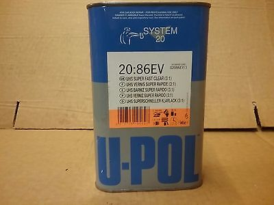 UPOL 20:86EV  2K UHS Super Fast Clear Lacquer   1lt    3:1   Clearcoat