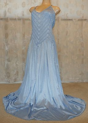 "Vintage  Gilligan & Omalley 104"" Sweep Nylon Nightgown---Bust To 42"""