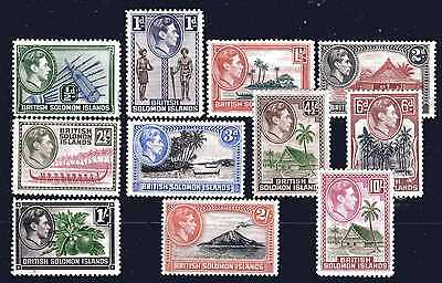 British Solomon Islands Kgvi 1939-51 Cv £43.00 Part Set To 10/- M/mint