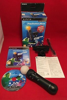 Playstation 3 PS3 Move Starter Pack - Move Motion Controller - Eye Camera Boxed